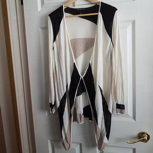 I.N.C. Color Block Long Sleeve Cardigan